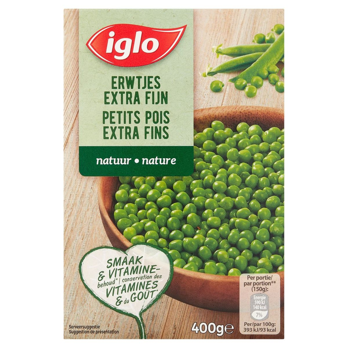 Iglo Petits Pois Extra Fins 400 g