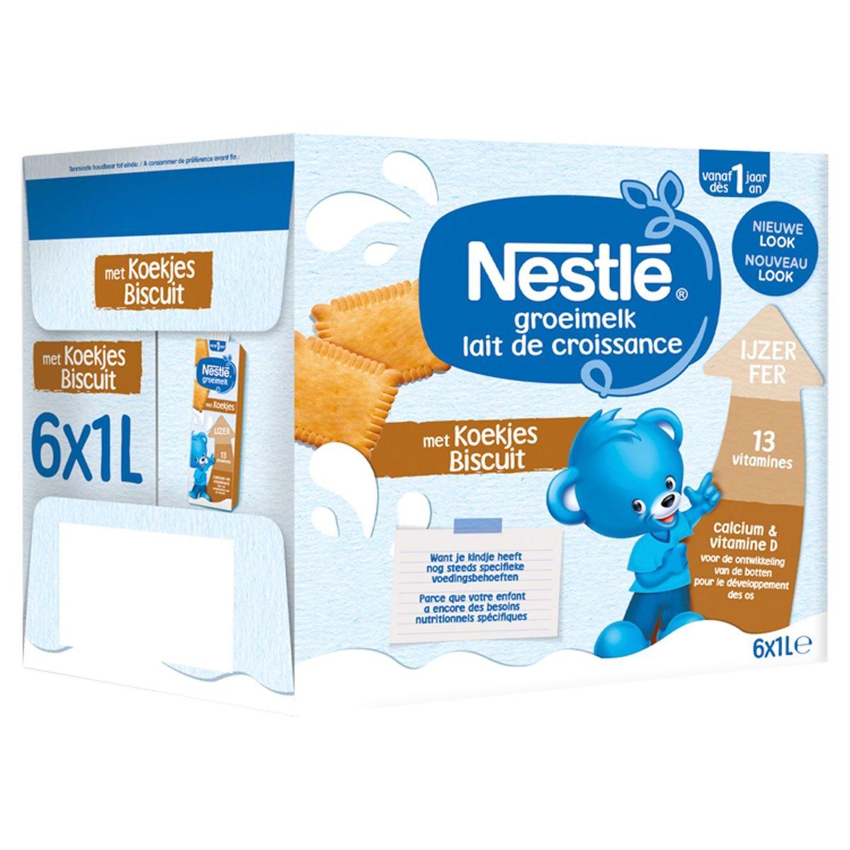 Nestlé Lait de Croissance Biscuit dès 1 An 6 x 1 L