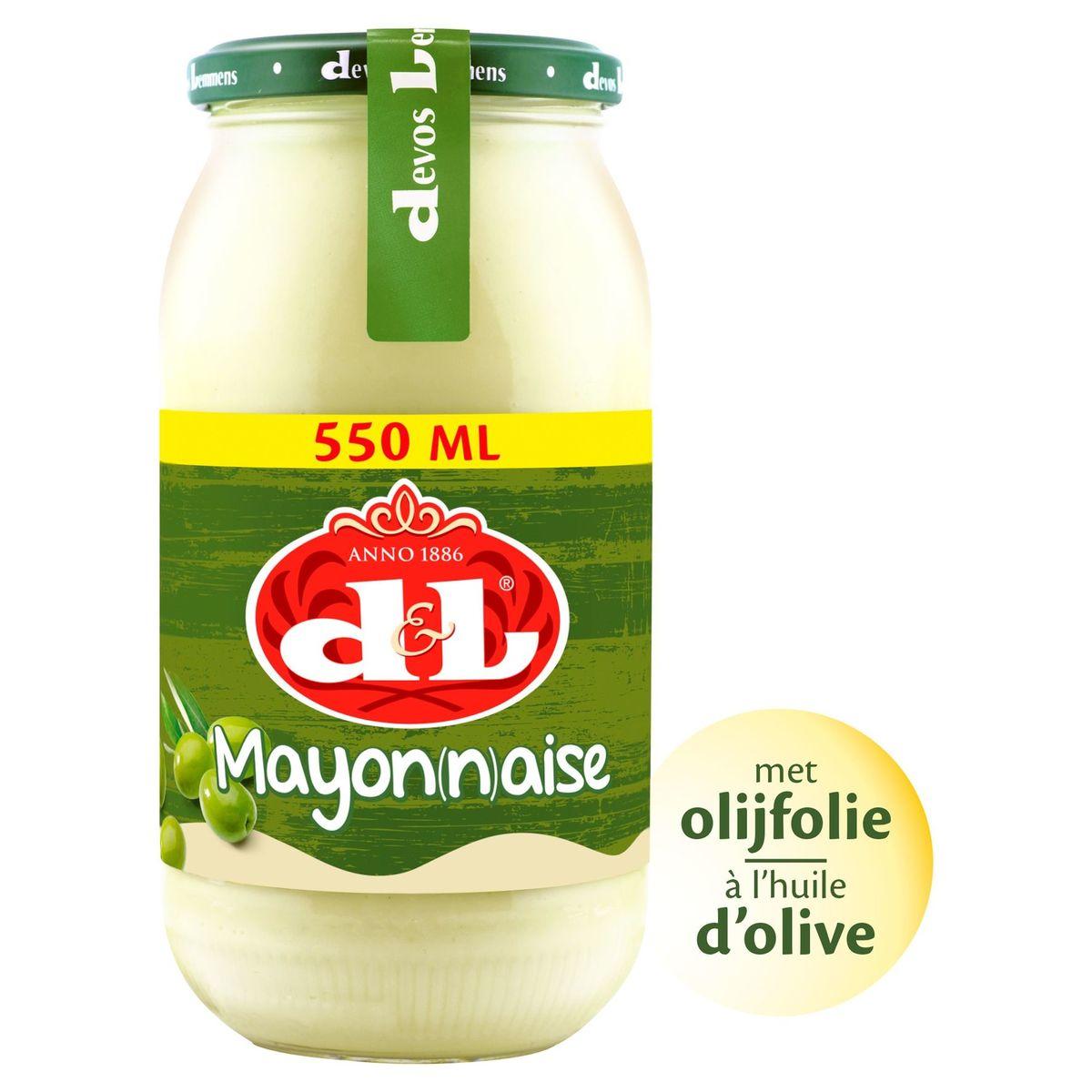 D&L Mayonnaise à l'Huile d'Olive (16%) 550 ml
