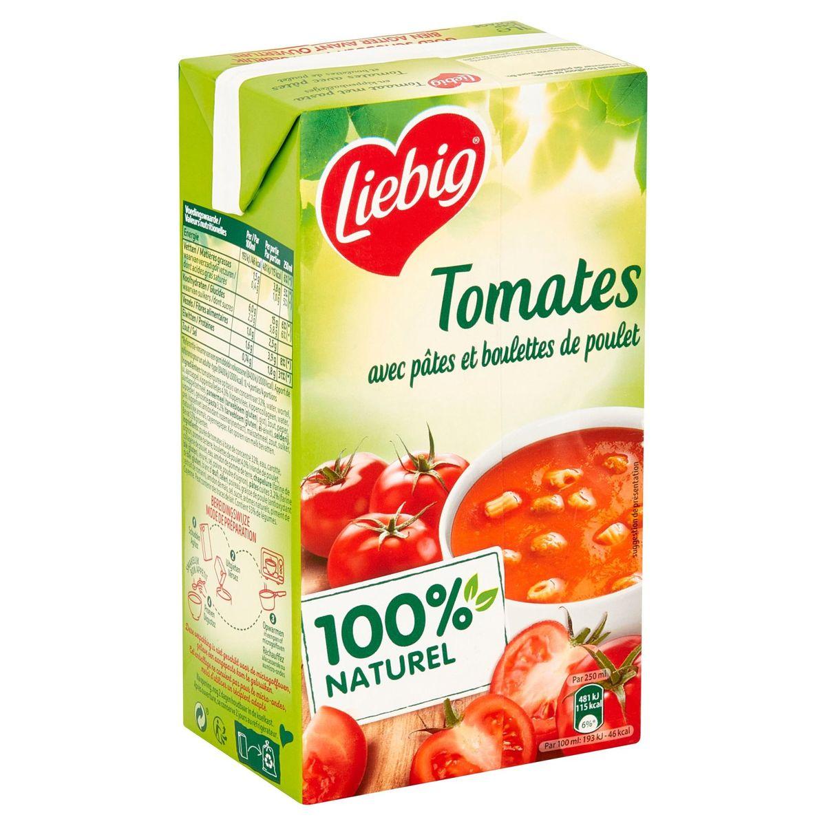 Liebig Tomates avec Pâtes et Boulettes de Poulet 1 L