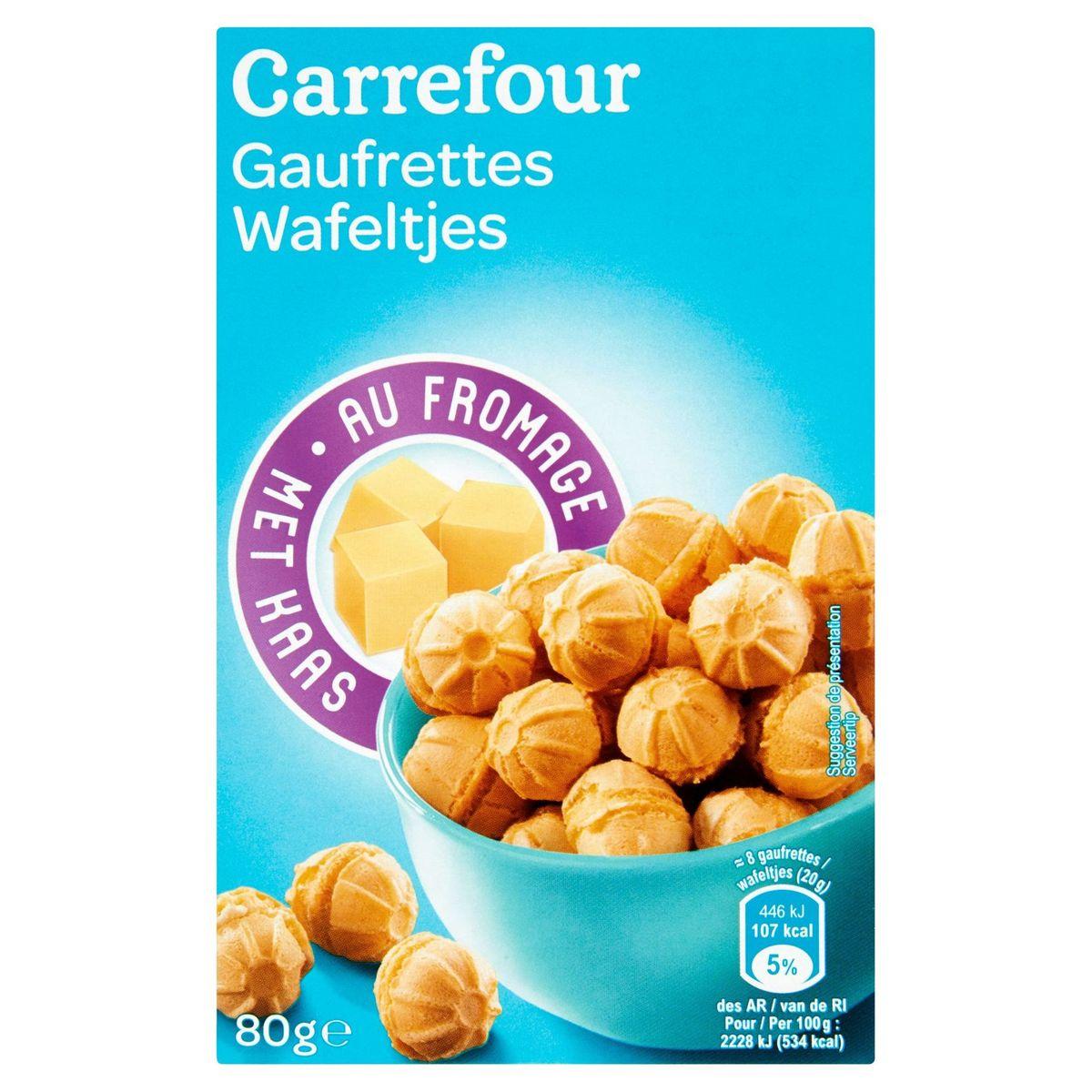 Carrefour Gaufrettes au Fromage 80 g