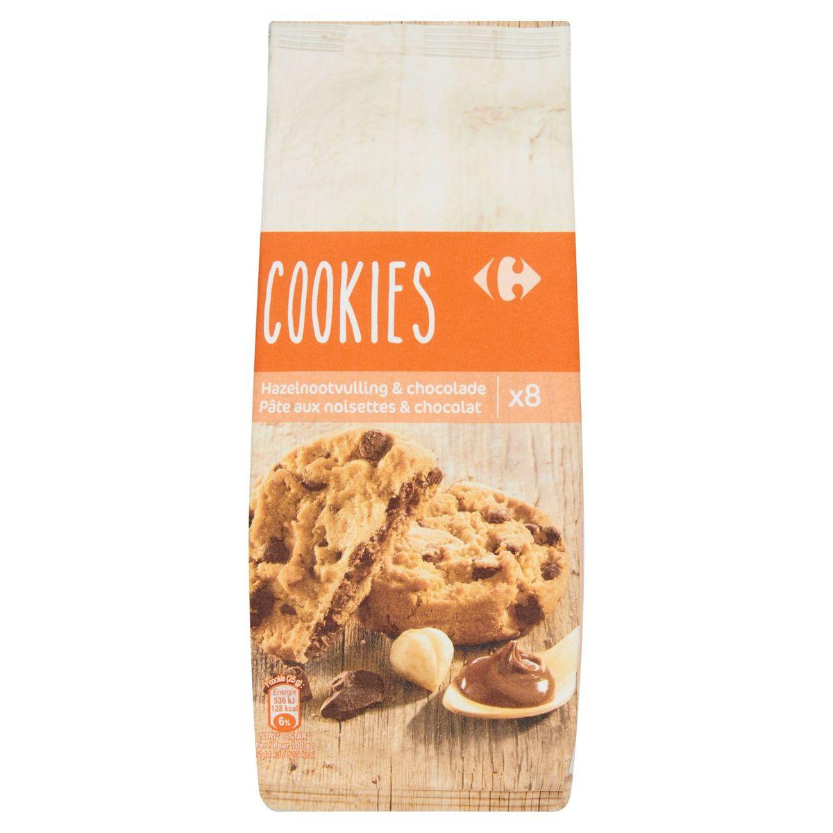 Carrefour Cookies Pâte aux Noisettes & Chocolat 8 Pièces 200 g