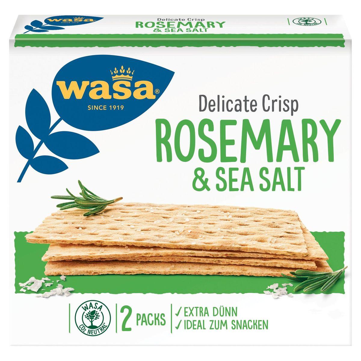 Wasa Delicate Crisp Rosemary & Sea Salt 190 g
