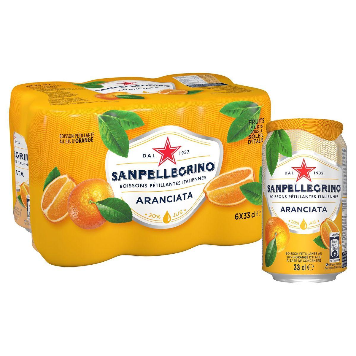 SANPELLEGRINO® Aranciata Bruisende Vruchtendrank Blikje 6 x 33 cl