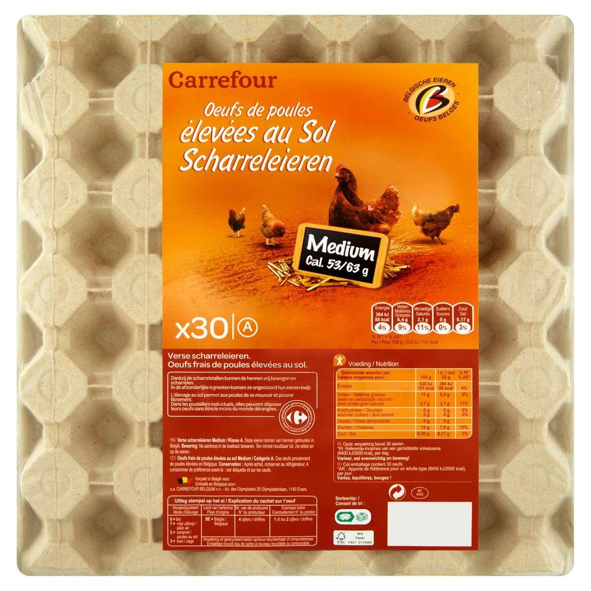 Carrefour 30 Scharreleieren Medium A