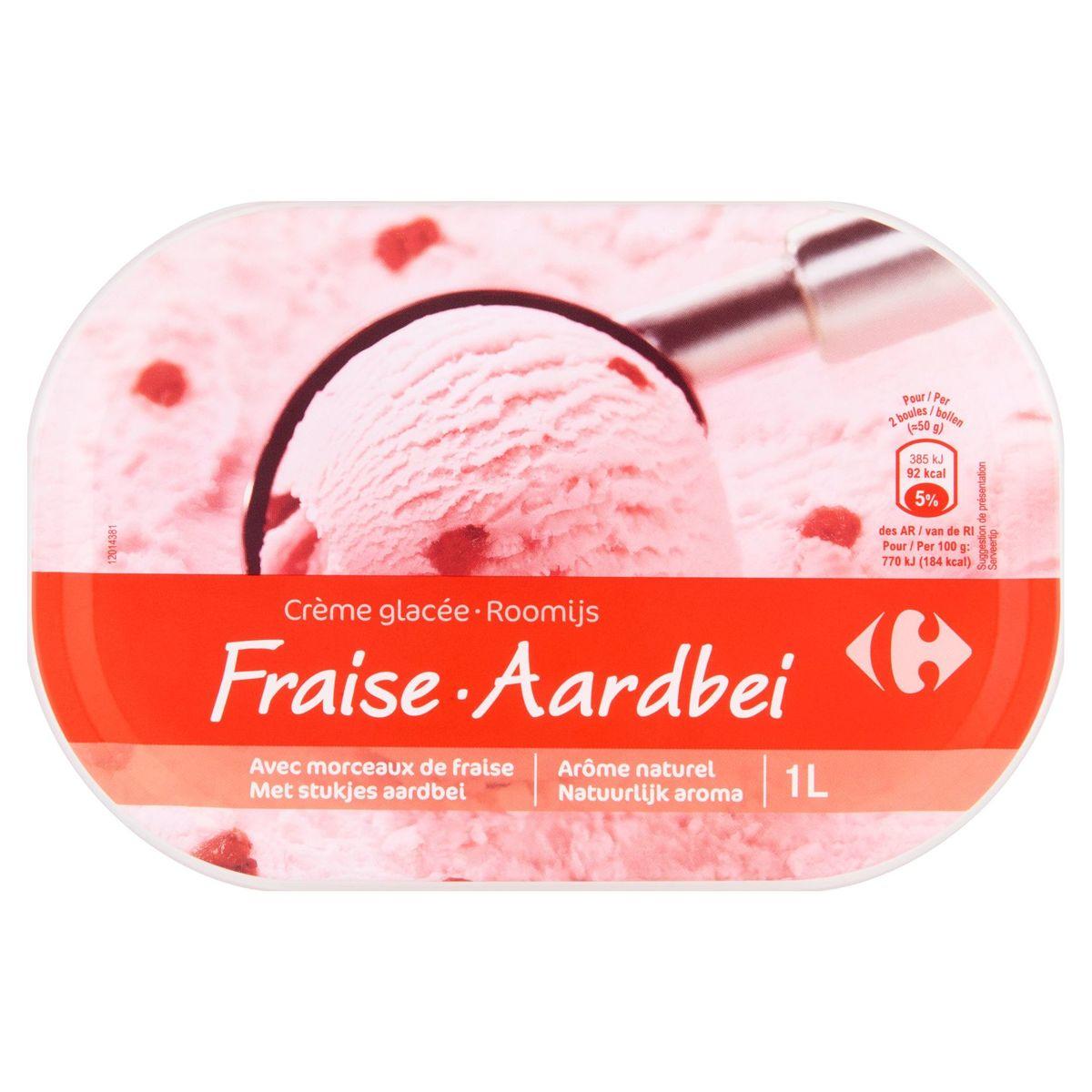 Carrefour Crème Glacée Fraise 500 g