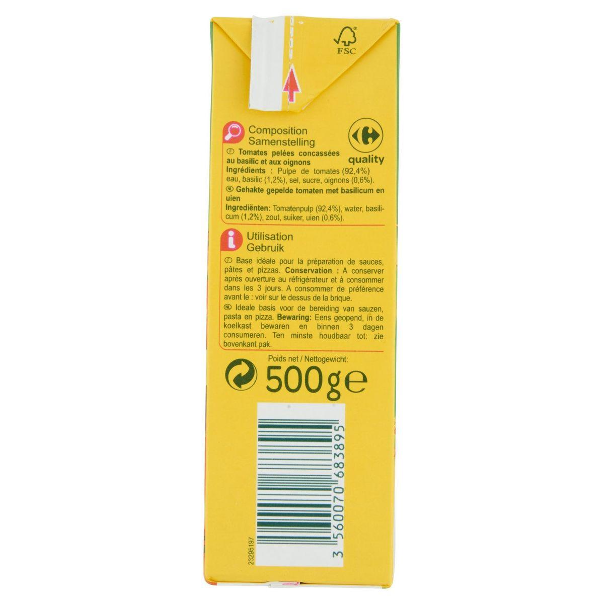Carrefour Tomate Concassée au Basilic 500 g