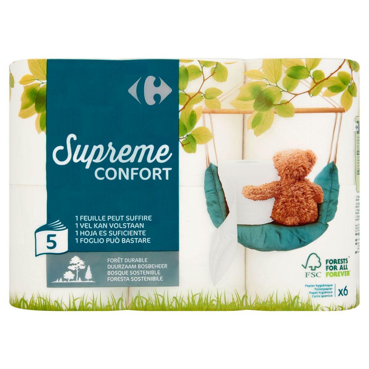 Carrefour Supreme Confort 5-Laags 6 Rollen