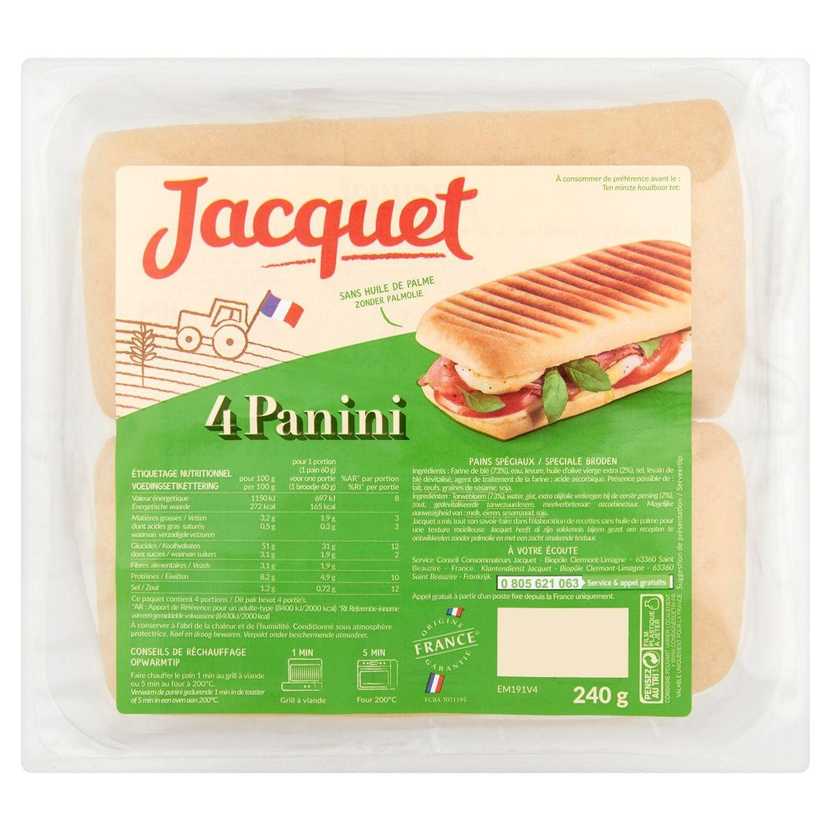 Jacquet Panini 4 Pièces 240 g