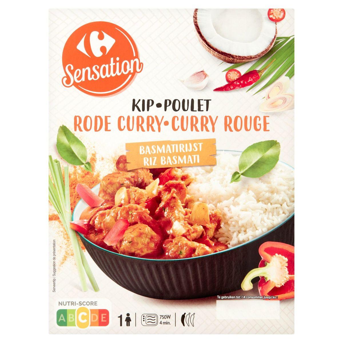 Carrefour Sensation Kip Rode Curry Basmatirijst 450 g