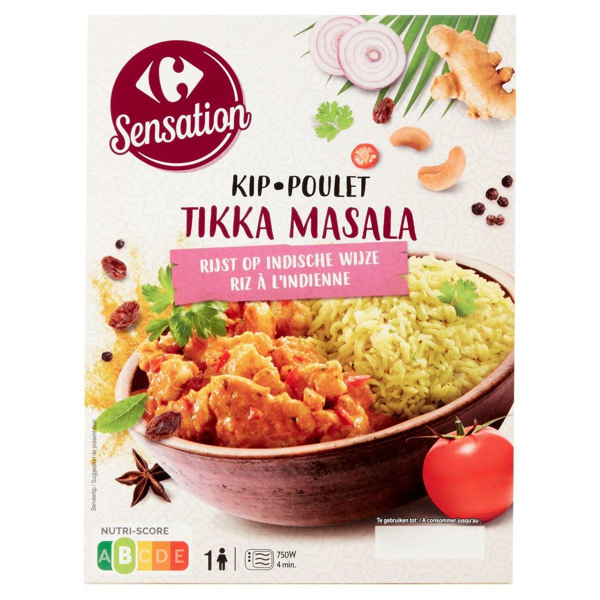 Carrefour Sensation Kip Tikka Masala Rijst op Indische Wijze 450 g