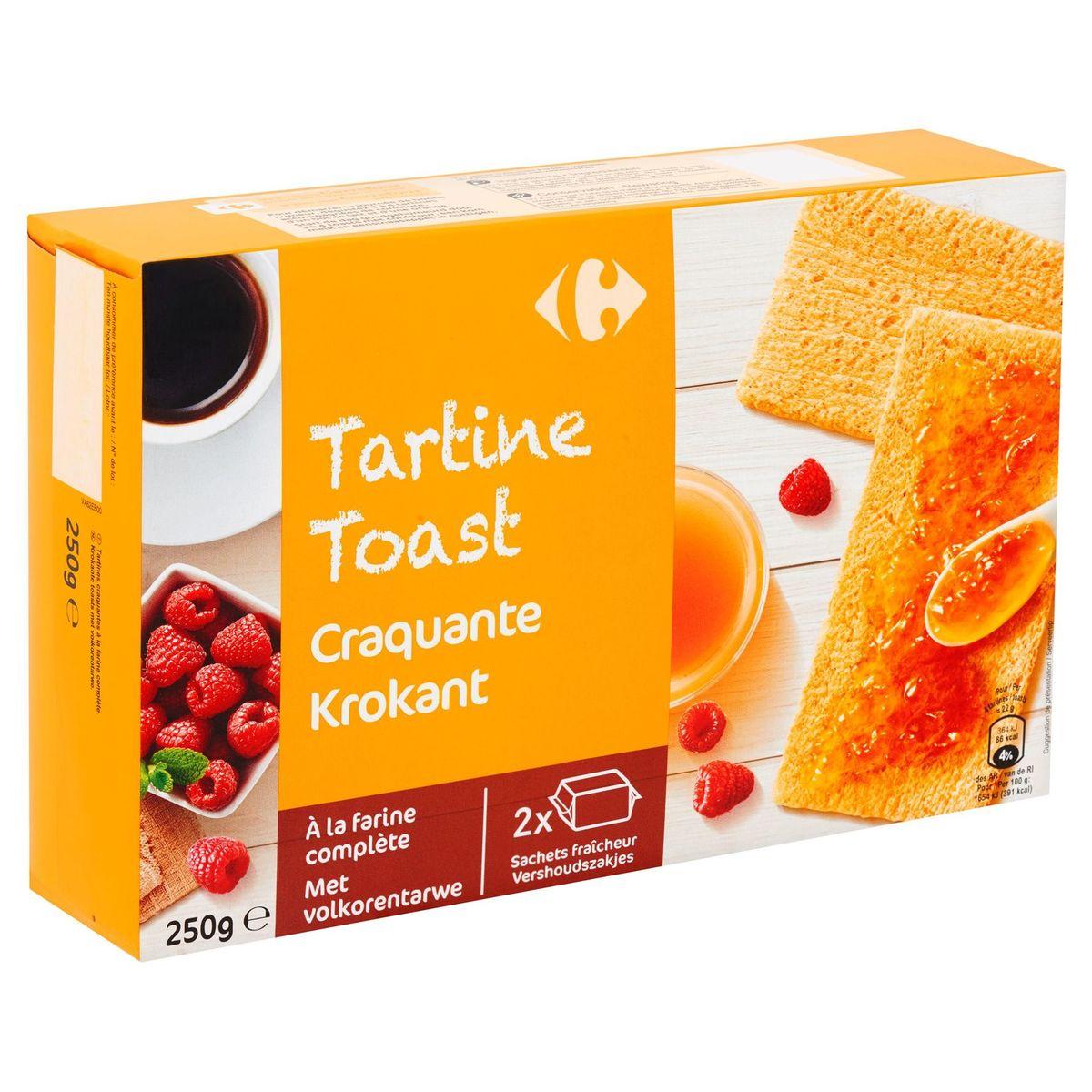 Carrefour Tartine à la Farine Complète 250 g