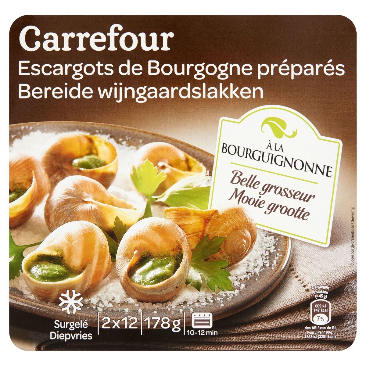 Carrefour Escargots de Bourgogne à la Bourguignonne 24 Pièces 178 g