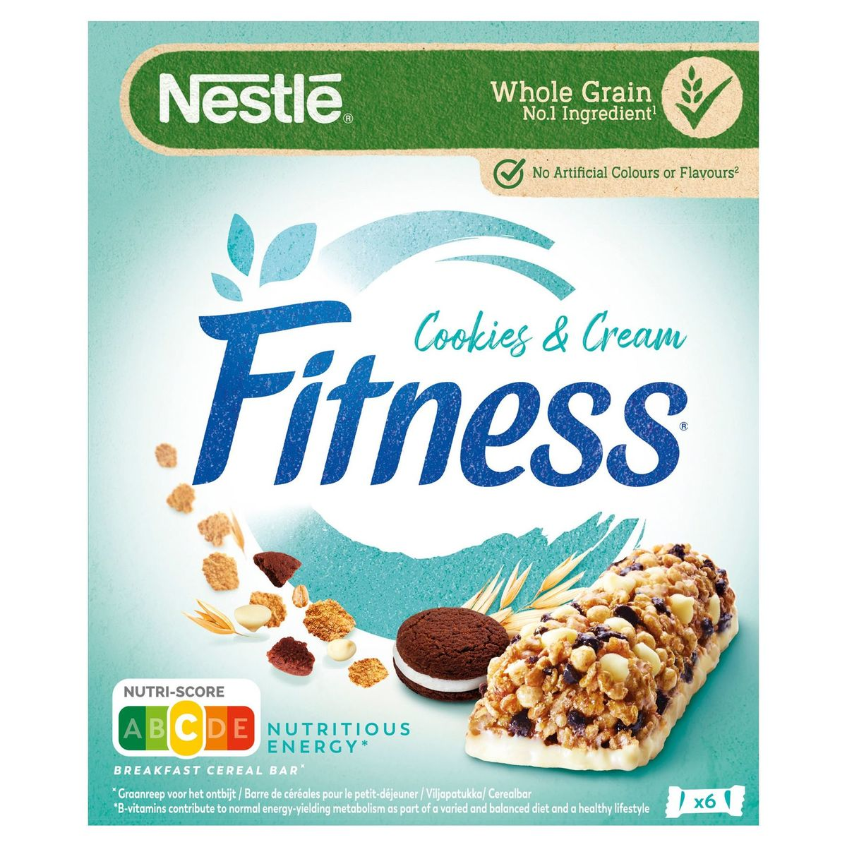 Fitness Cookies & Cream 6 x 23.5 g