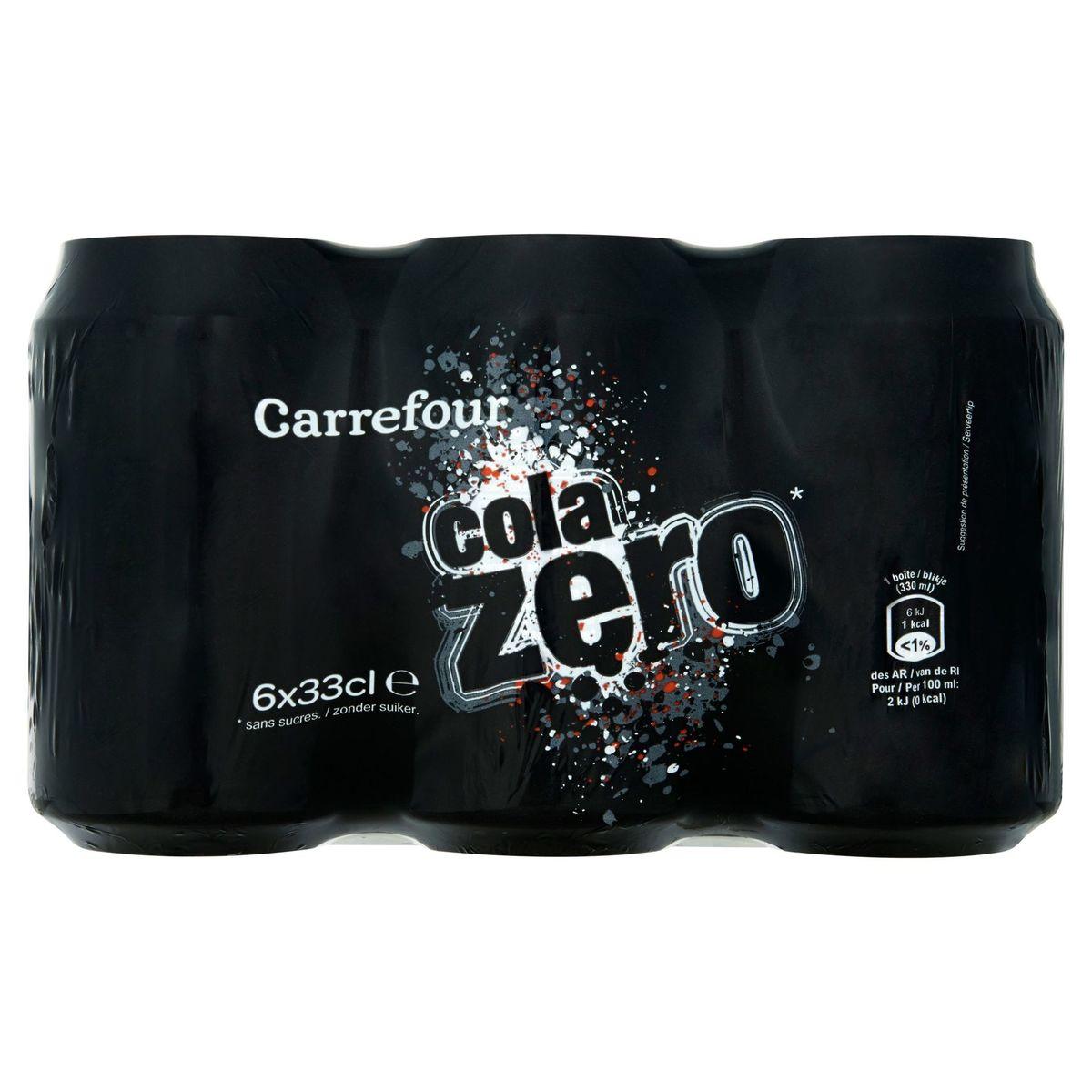 Carrefour Cola Zero 6 x 33 cl