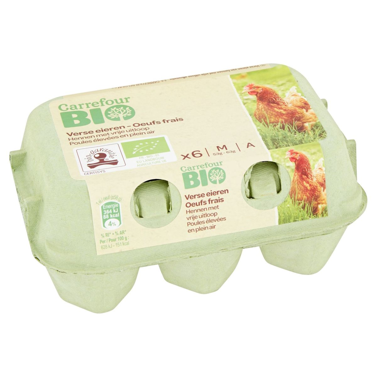 Carrefour Bio 6 Verse Eieren M