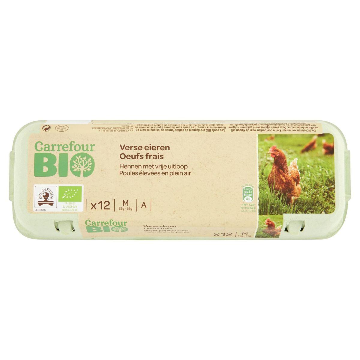 Carrefour Bio 12 Verse Eieren M
