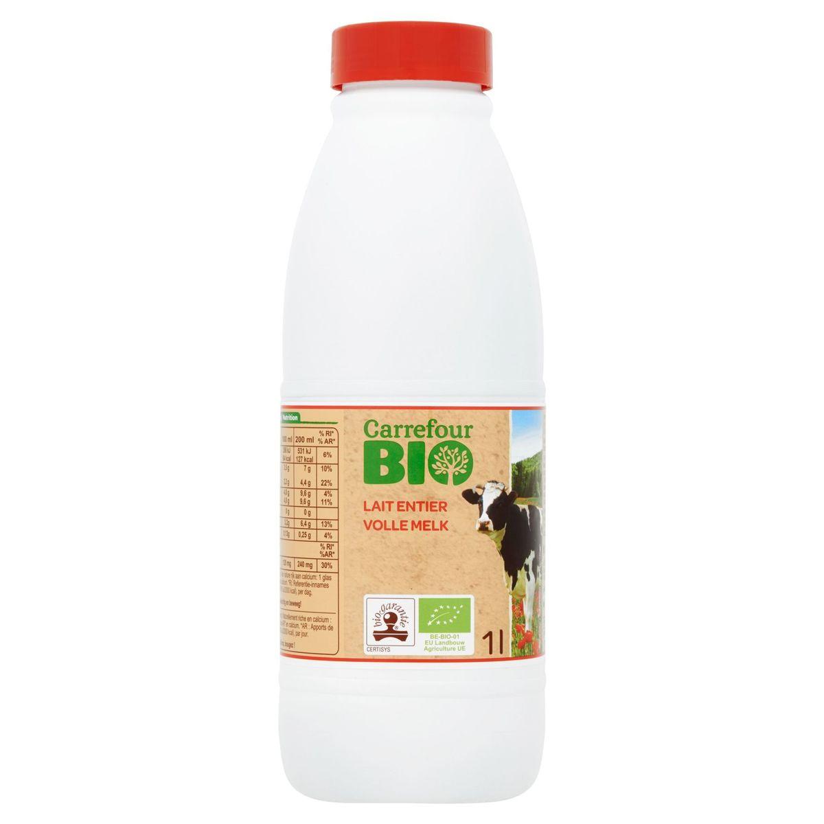 Carrefour Bio Lait Entier 1 L