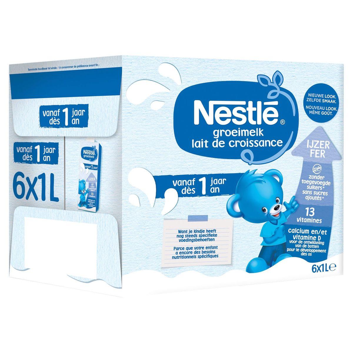 Nestlé Lait de Croissance 1+ dès 1 An 6 x 1 L