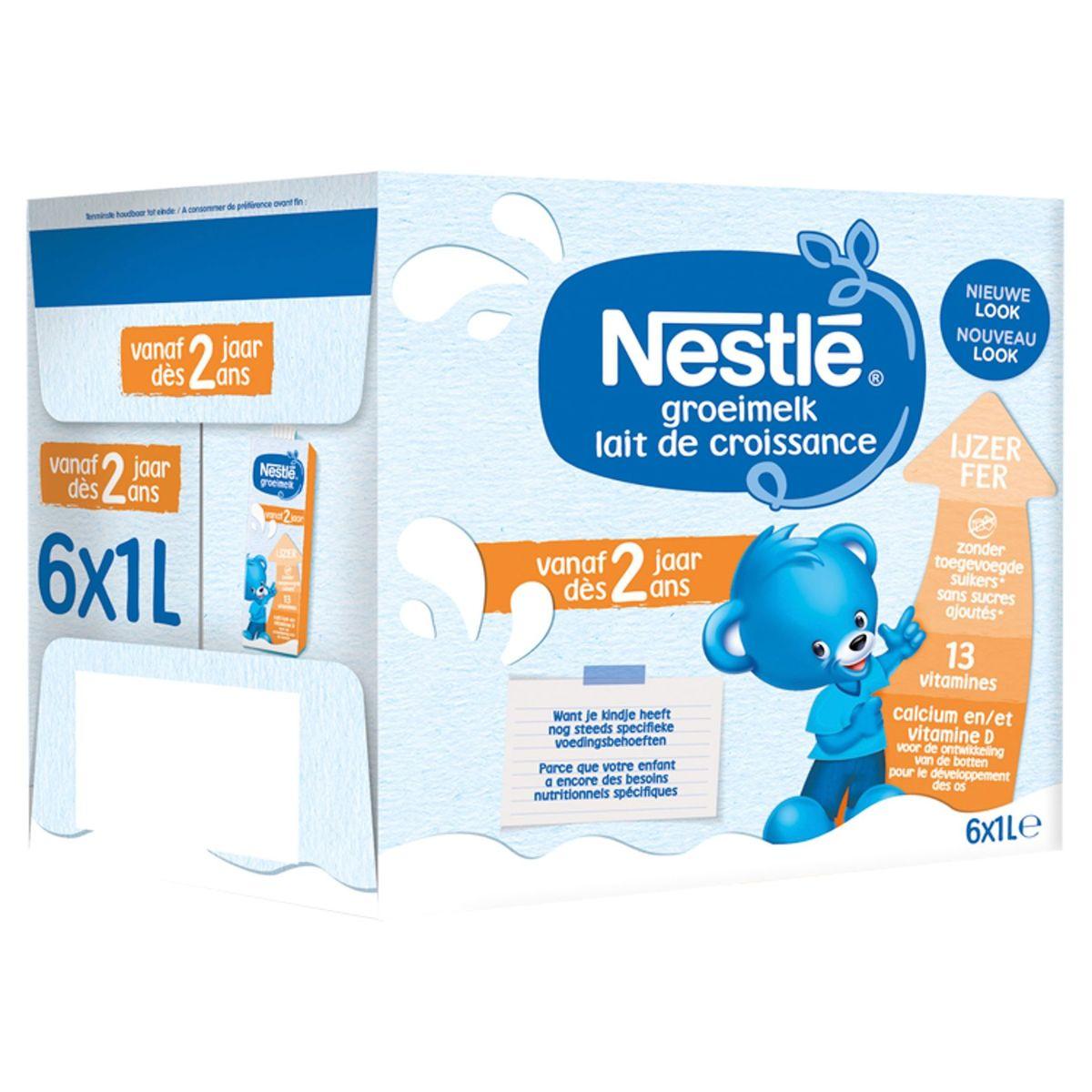 Nestlé® Lait de Croissance 2+ dès 2 Ans 6 x 1 L