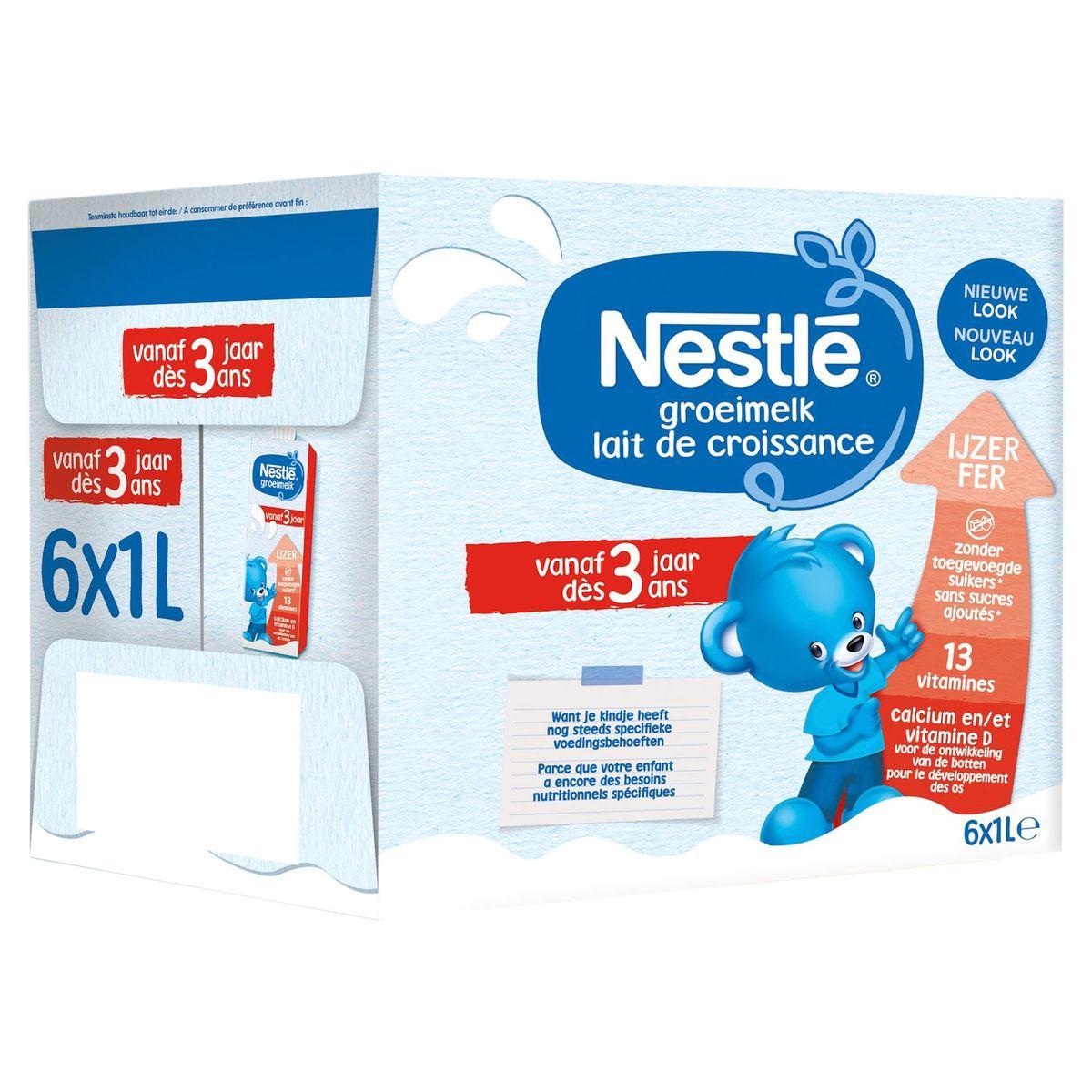Nestlé Lait de Croissance dès 3 Ans 6 x 1 L