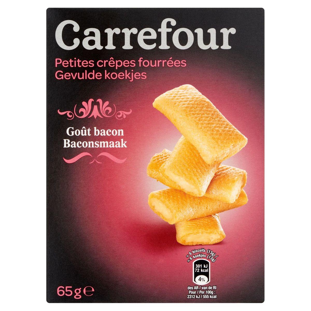 Carrefour Petites Crêpes Fourrées Goût Bacon 65 g