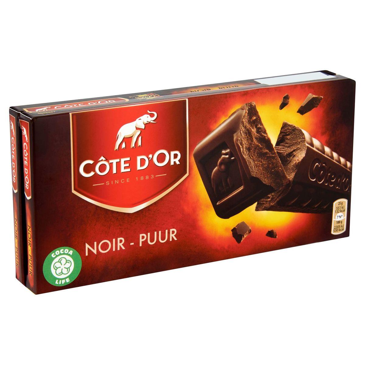 Côte d'Or Noir 2 x 200 g