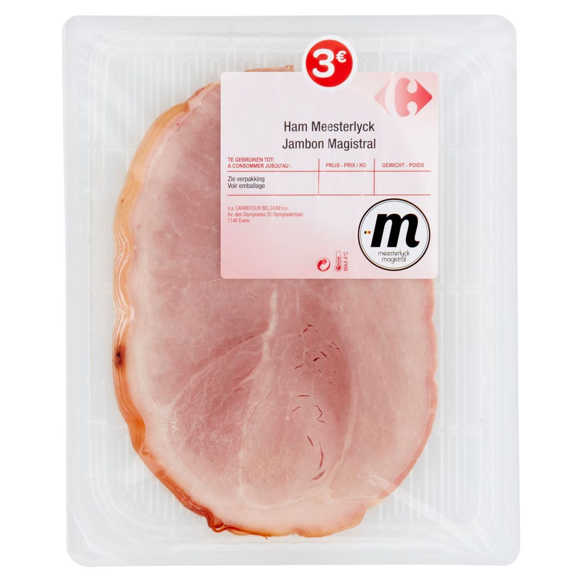 Carrefour Jambon Magistral 4 Tranches 150 g