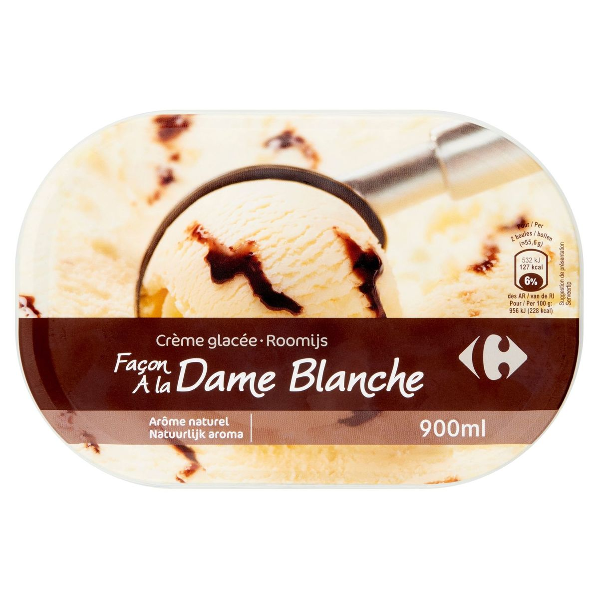Carrefour Roomijs Façon à la Dame Blanche 500 g