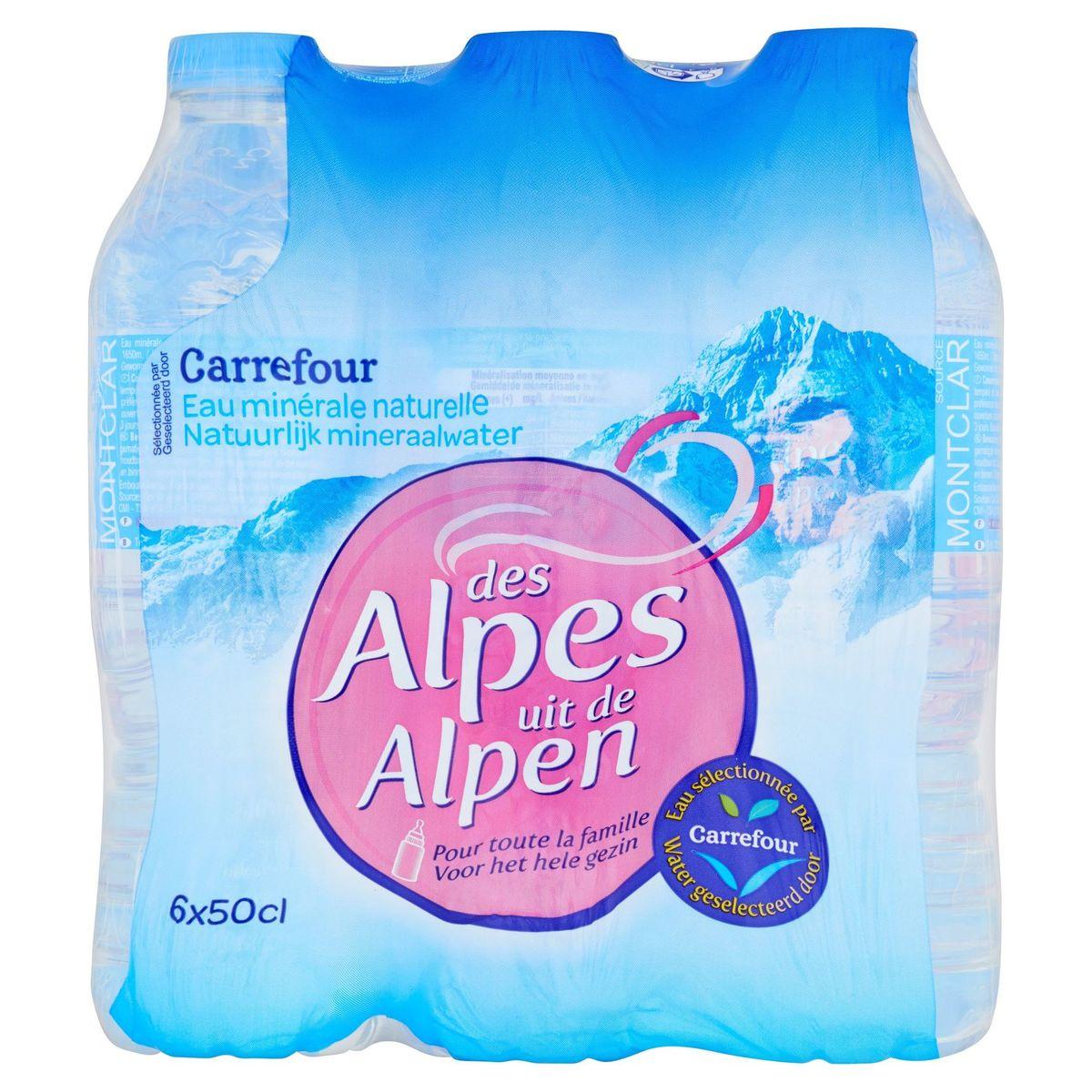 Carrefour Eau Minérale Naturelle des Alpes 6 x 50 cl