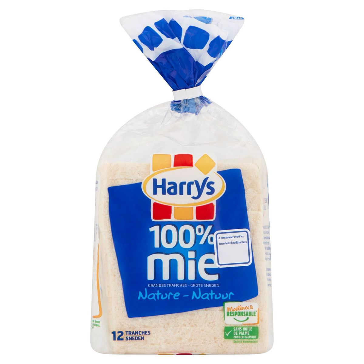 Harrys 100% Mie Nature 12 Tranches 500 g