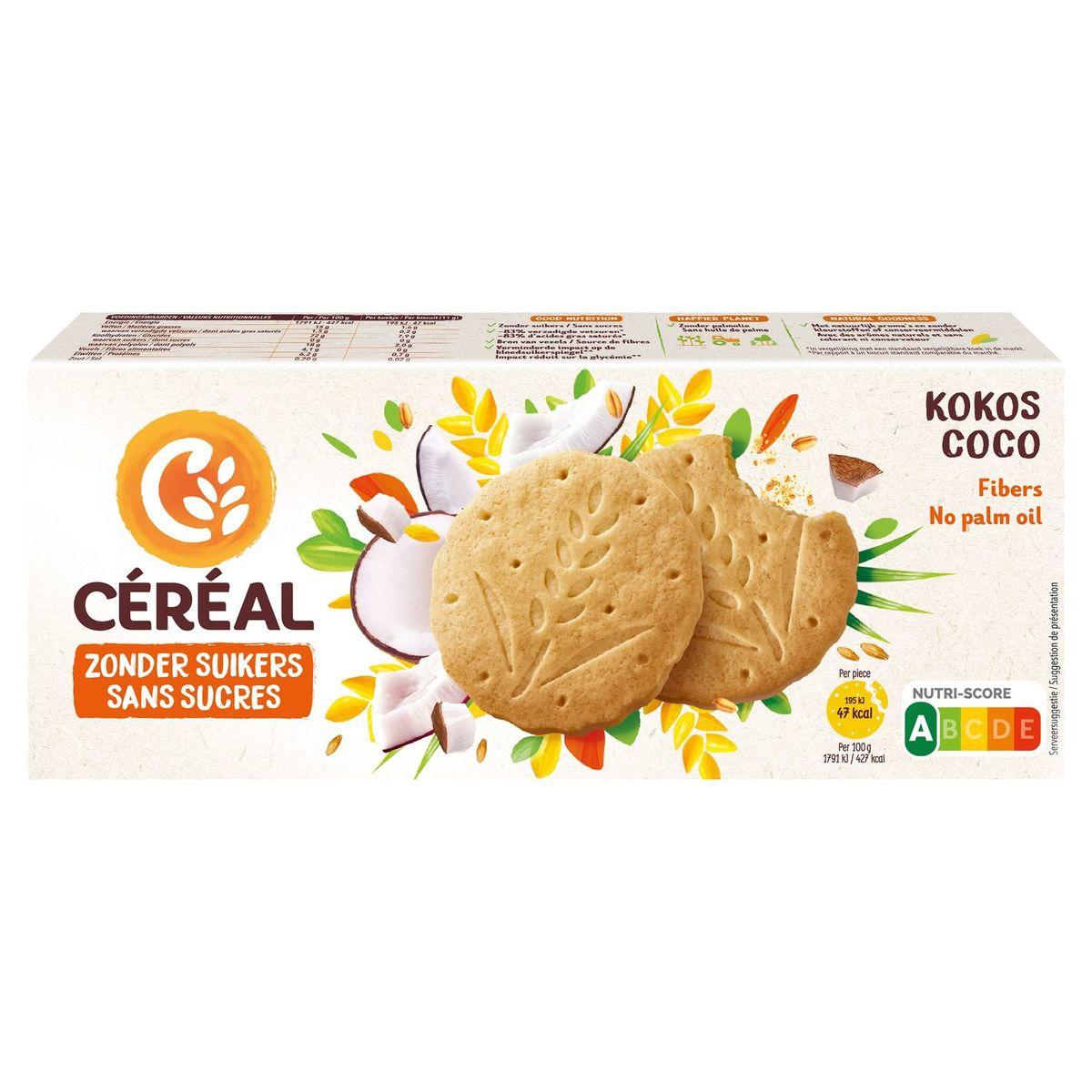 Céréal Sans Sucres Biscuits Coco 3 x 4 Pièces 132 g
