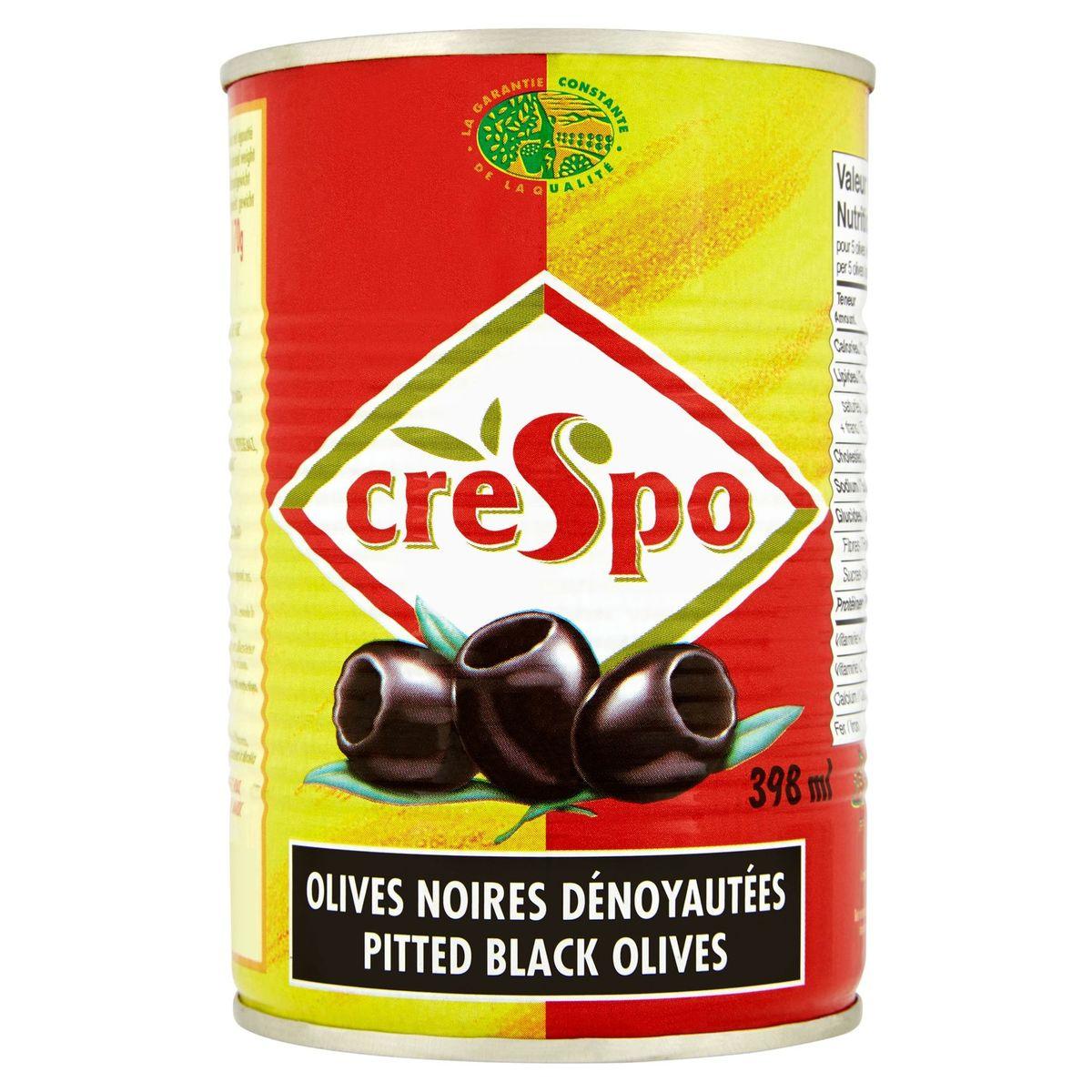Crespo Olives noires dénoyautées 397 g