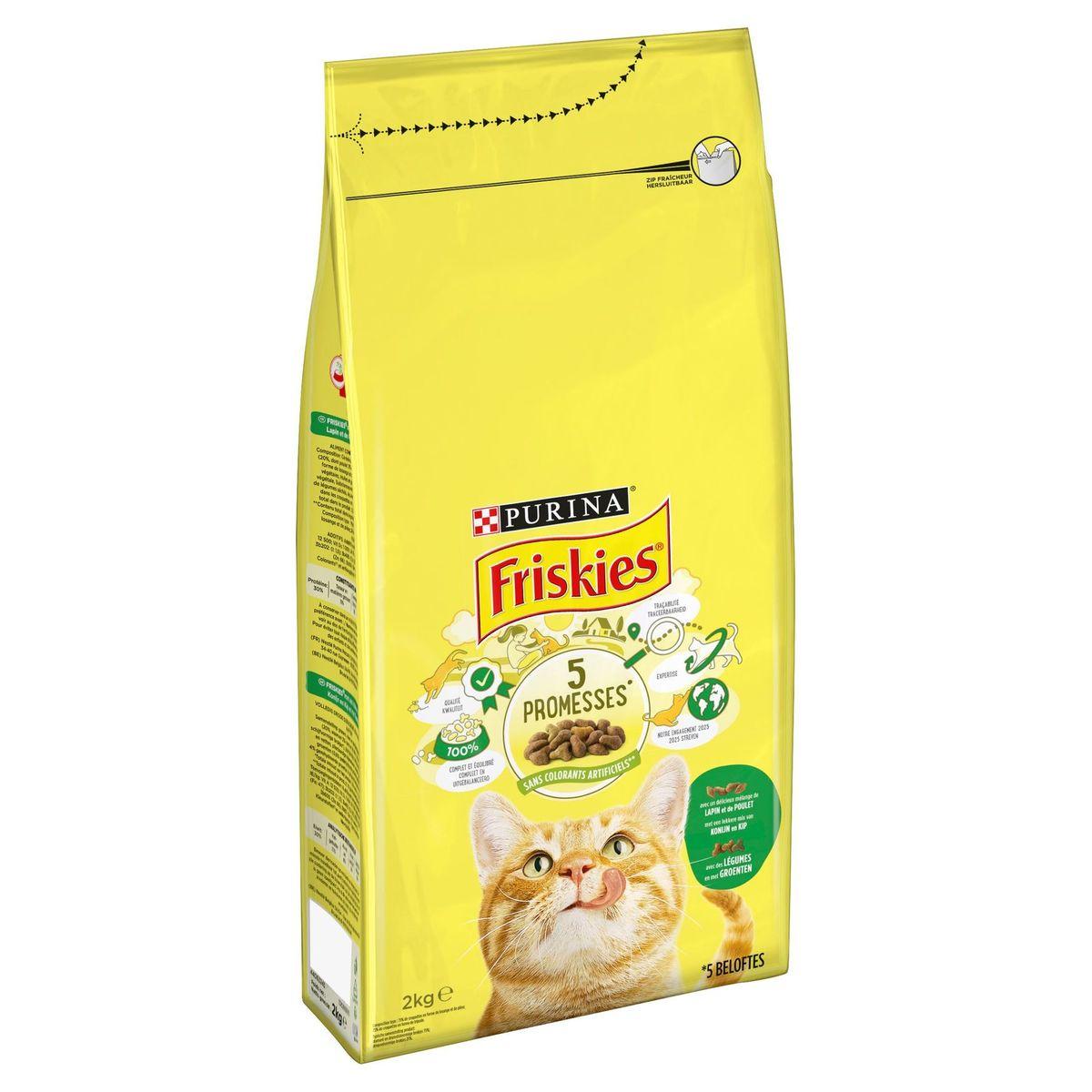 FRISKIES Kattenvoer Adult Konijn, Kip en Groenten 2 kg