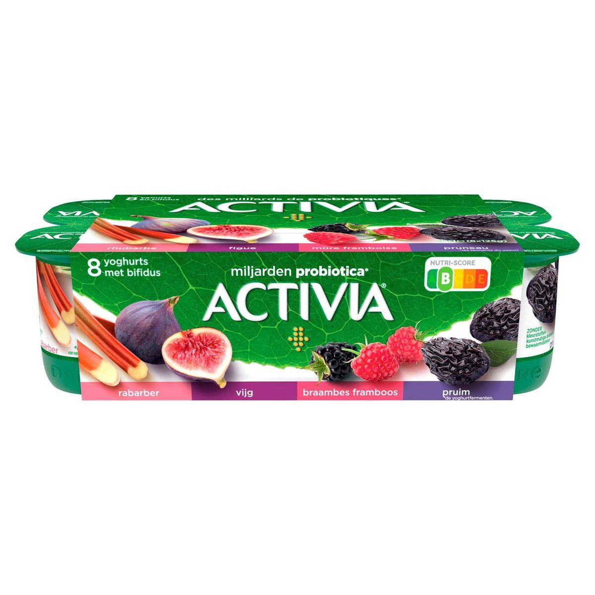 Activia Yaourt Fruits Rouges avec Probiotiques 8 x 125 g