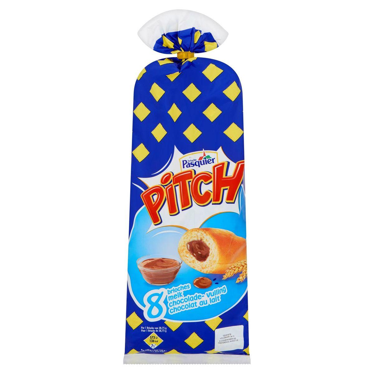 Brioche Pasquier Pitch Melk Chocolade- Vulling 8 x 38.75 g