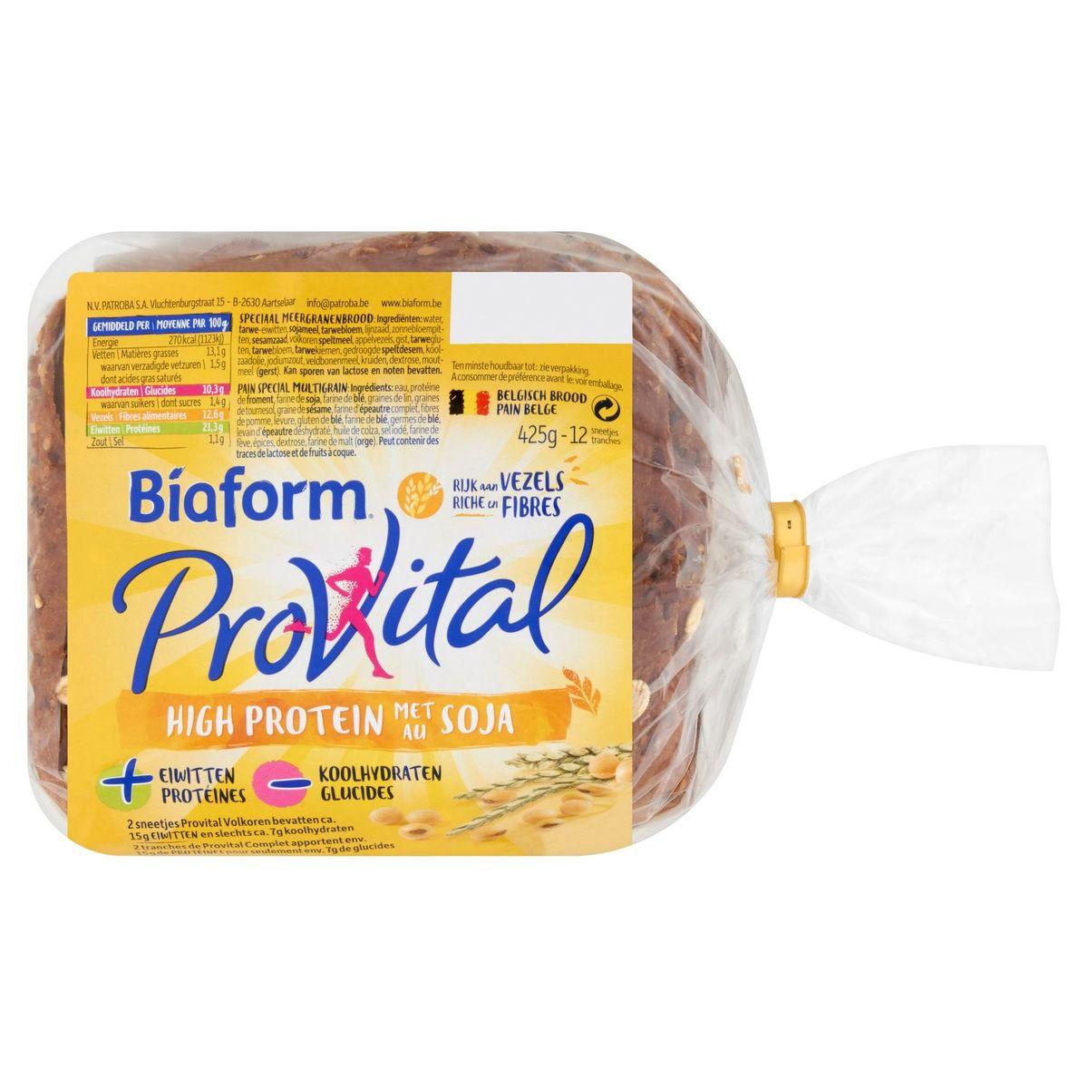 Biaform ProVital High Protein au Soja 12 Tranches 425 g