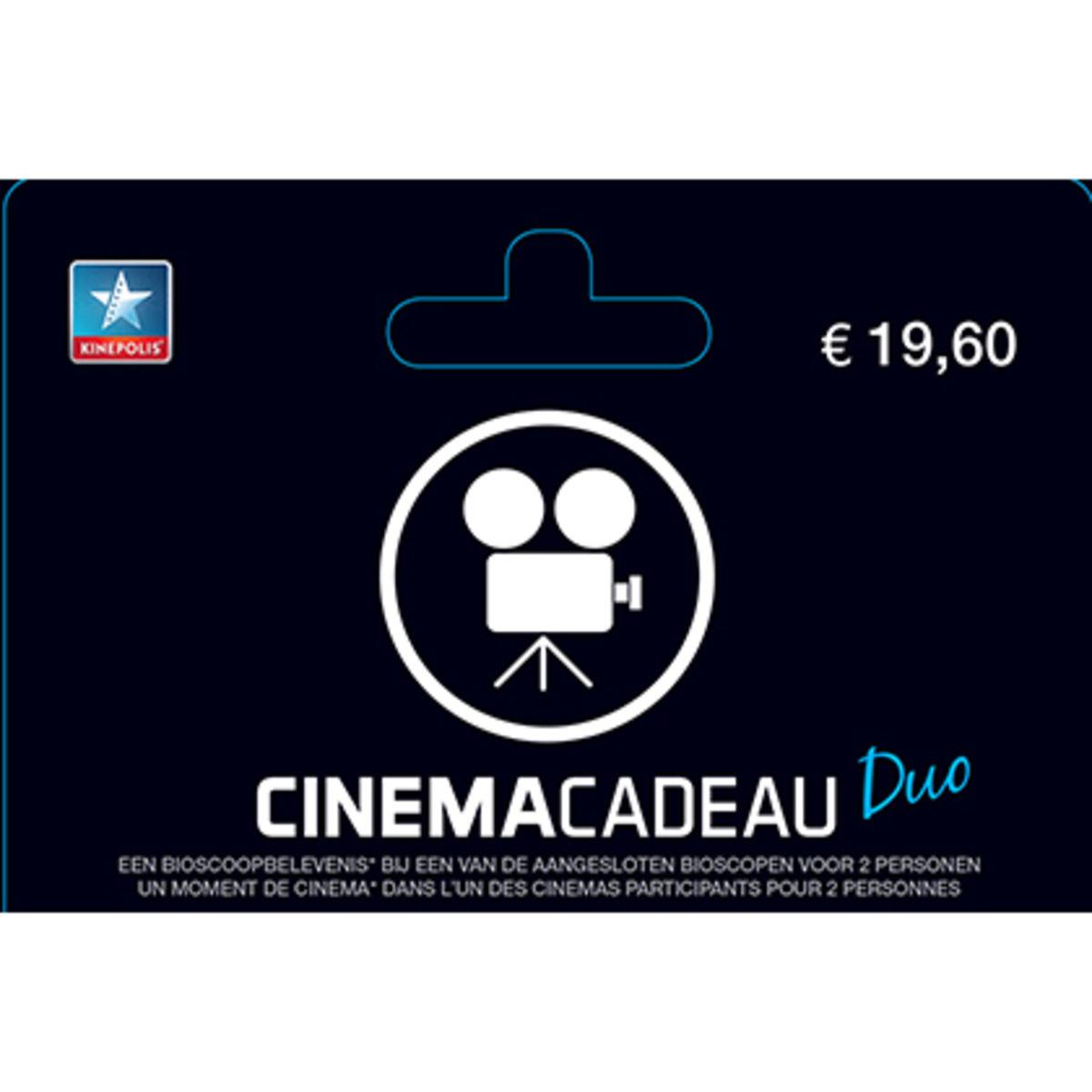 Cinema Cadeau Duo kaart