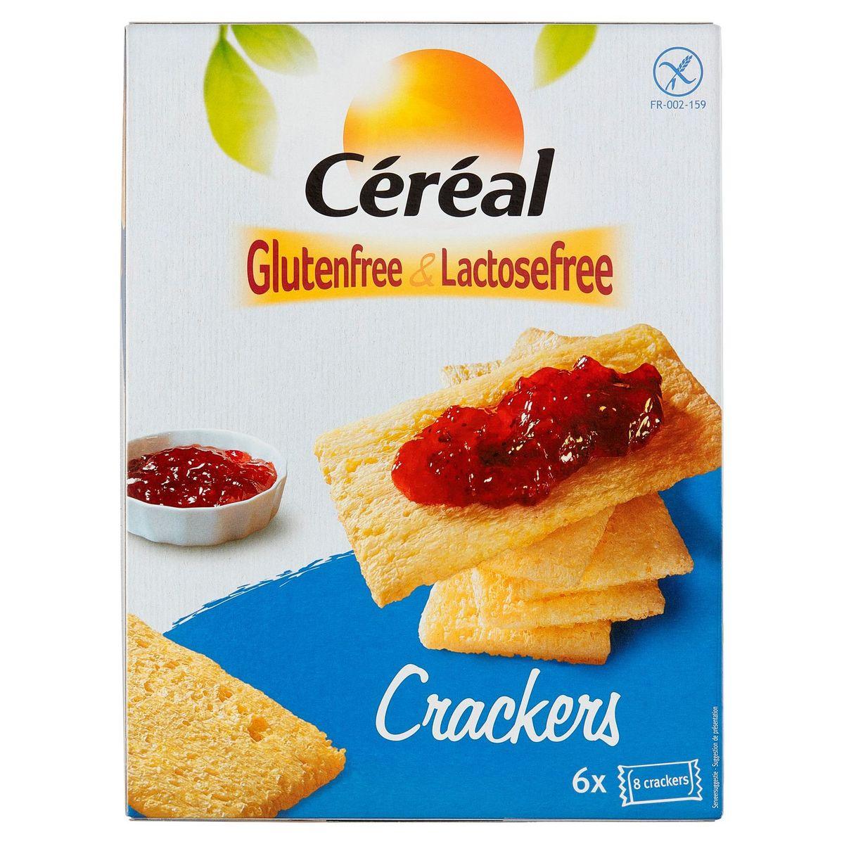 Céréal Glutenfree & Lactosefree Crackers 36 Pièces 250 g