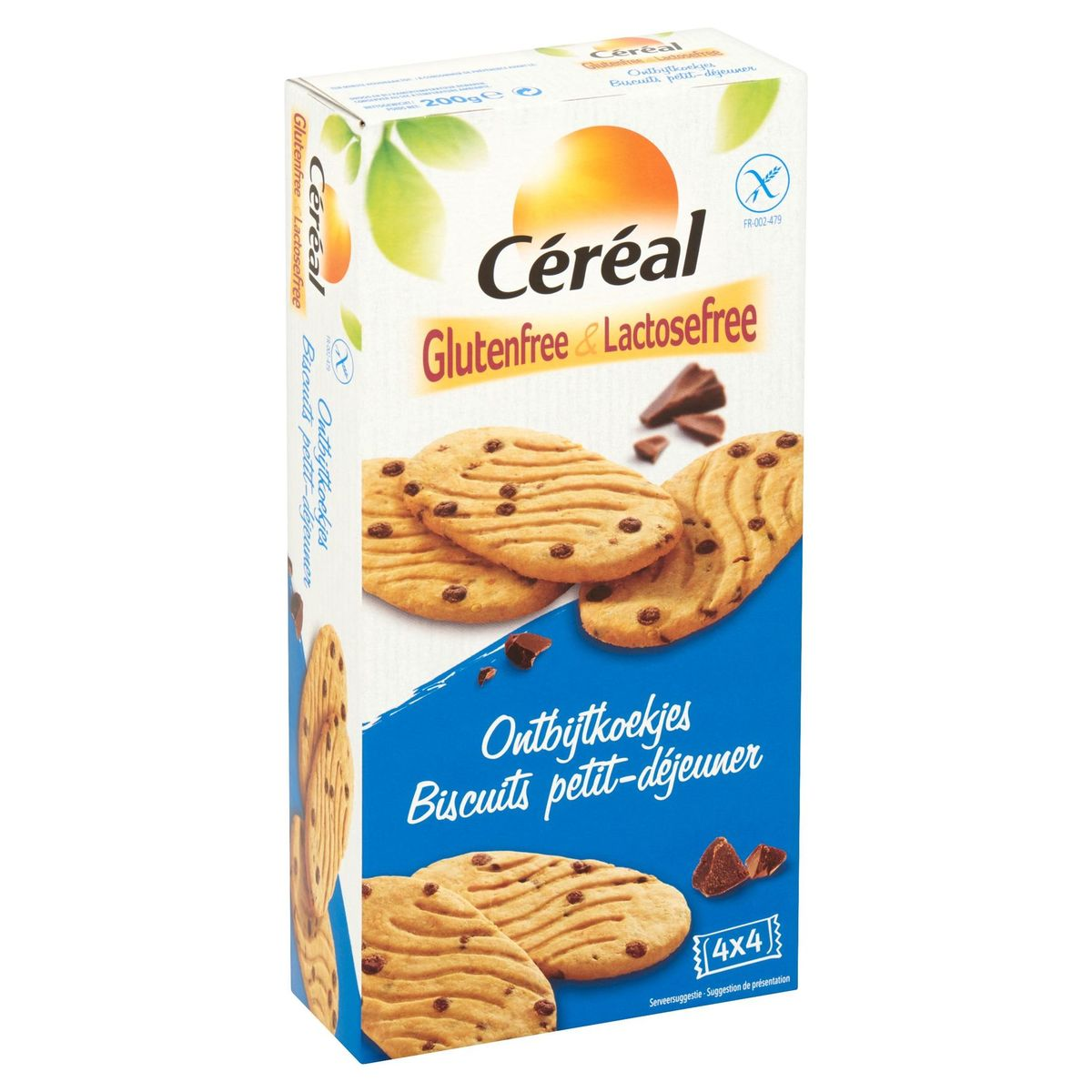 Céréal Glutenfree & Lactosefree  Petit-Déjeuner 4x4 Pièces 200g