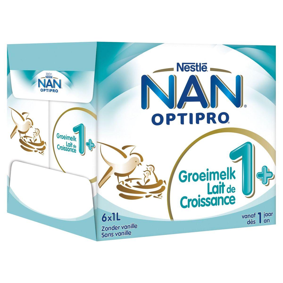 Nan Optipro Lait de Croissance 1+ dès 1 An 6 x 1 L