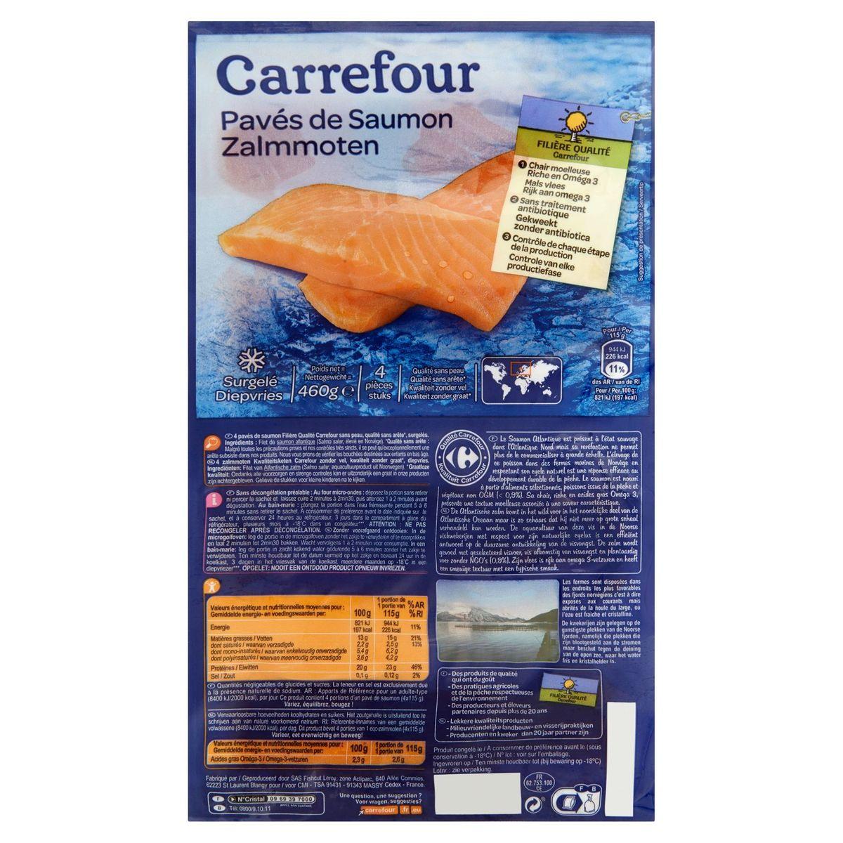 Carrefour FQC Pavés de Saumon 4 Pièces 460 g