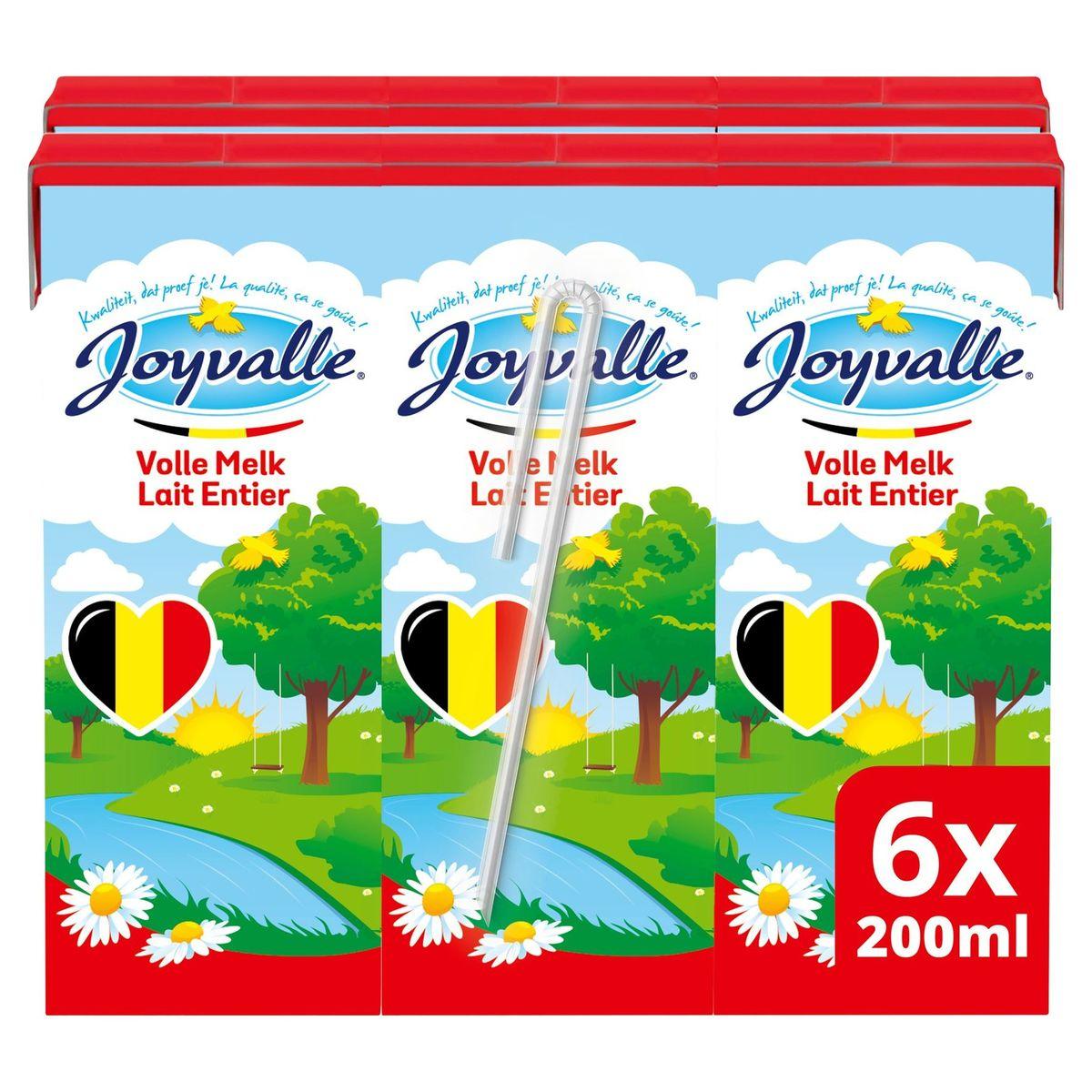 Joyvalle Lait Entier 6 x 0.2 L