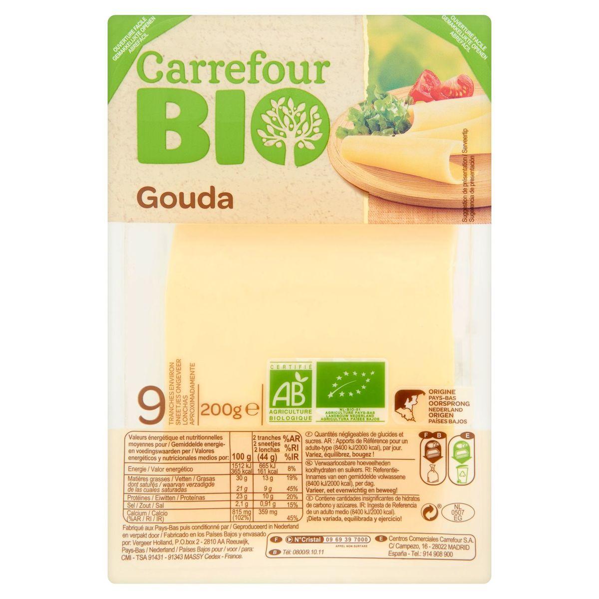Carrefour Bio Gouda 200 g