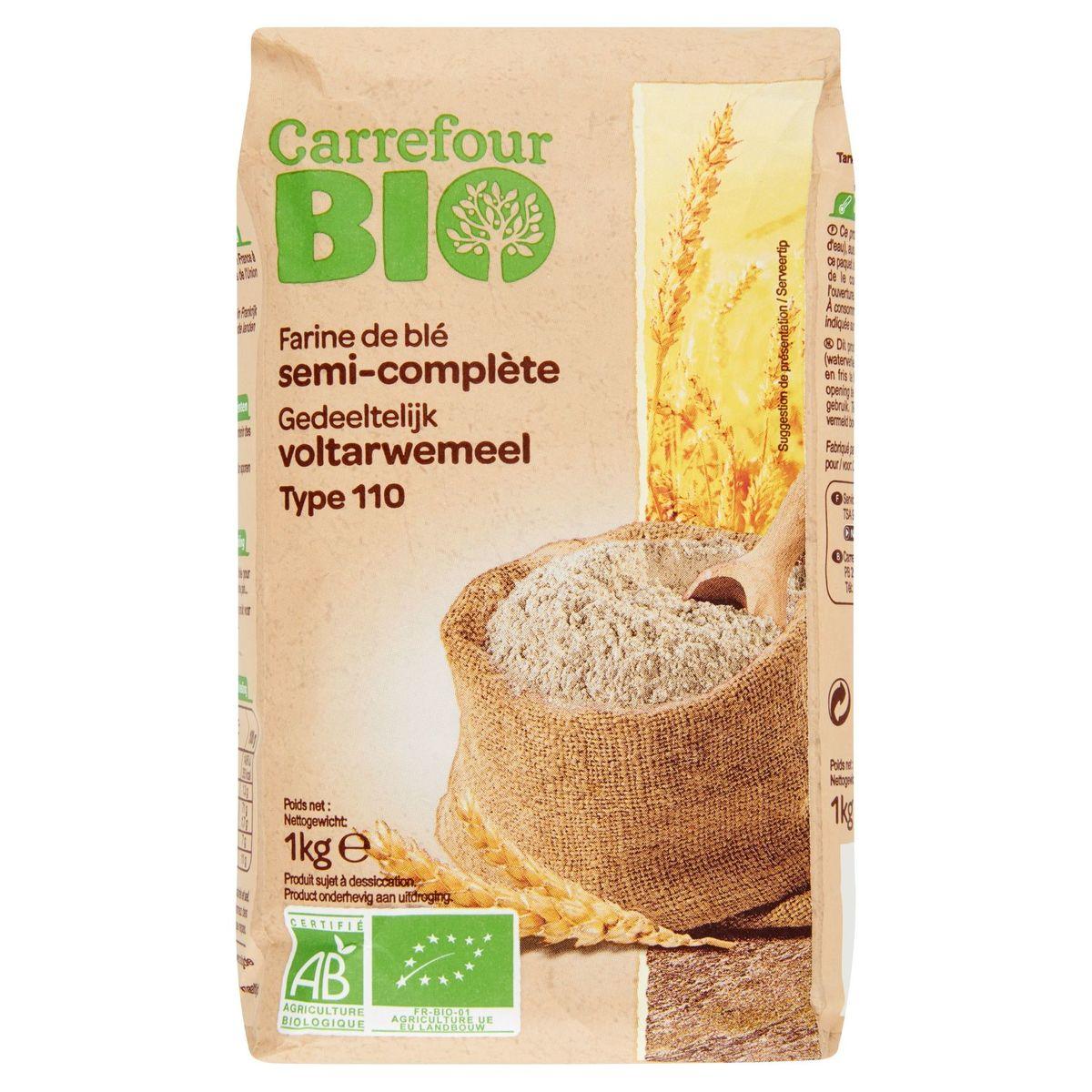 Carrefour Bio Farine de Blé Semi-Complète Type 110 1 kg