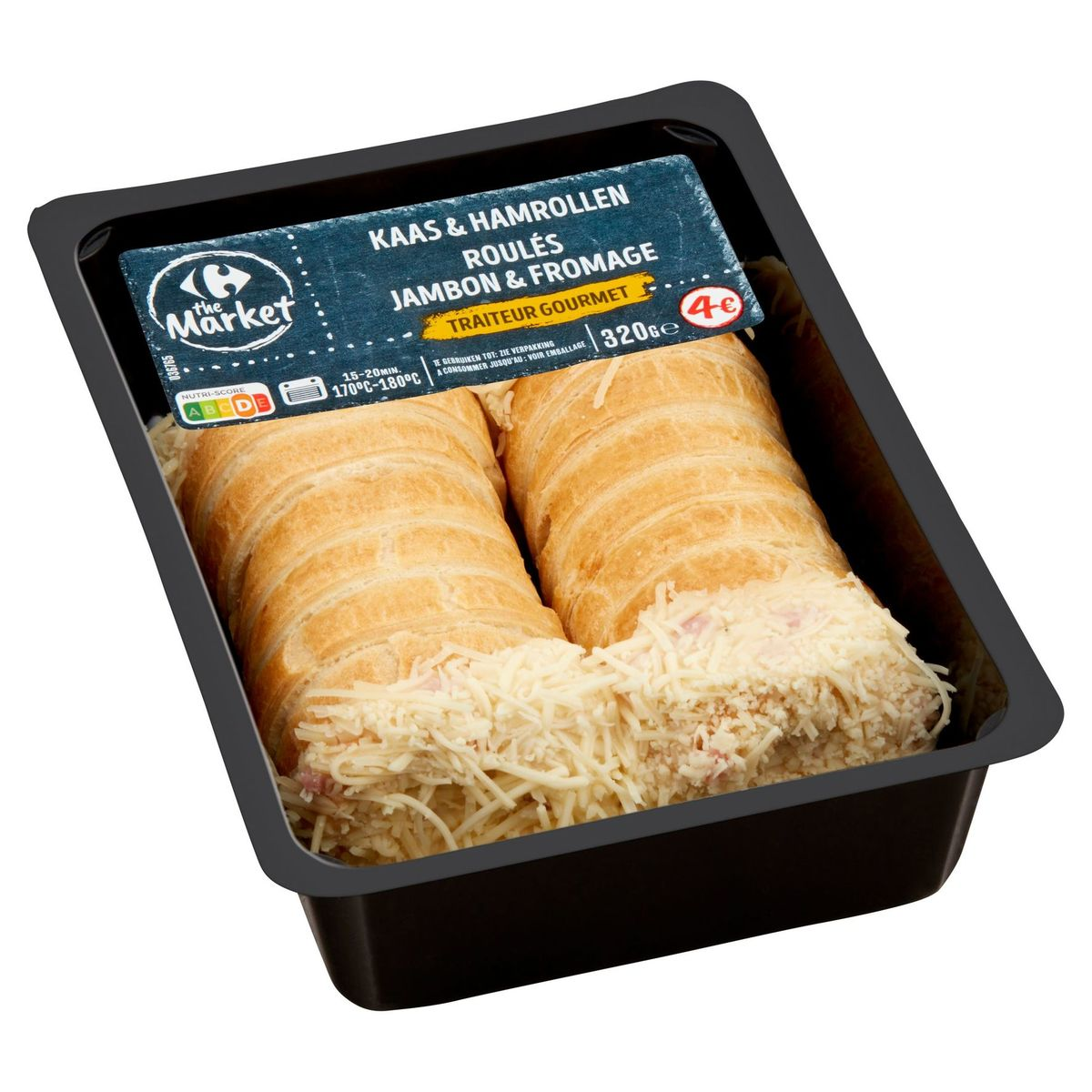 Carrefour Traiteur Gourmet Kaas & Hamrollen 320 g