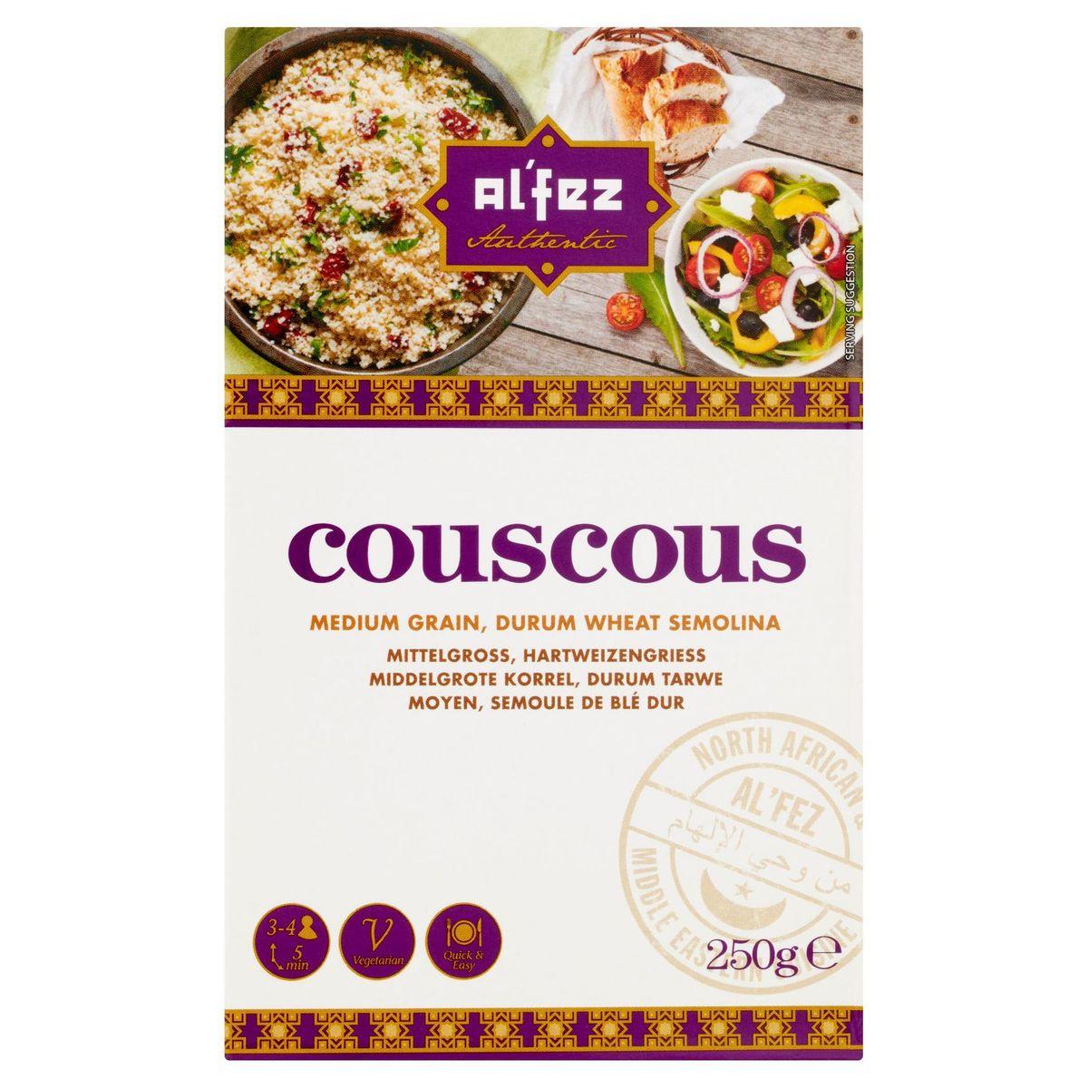 Al'Fez Couscous Middelgrote Korrel, Durum Tarwe 250 g