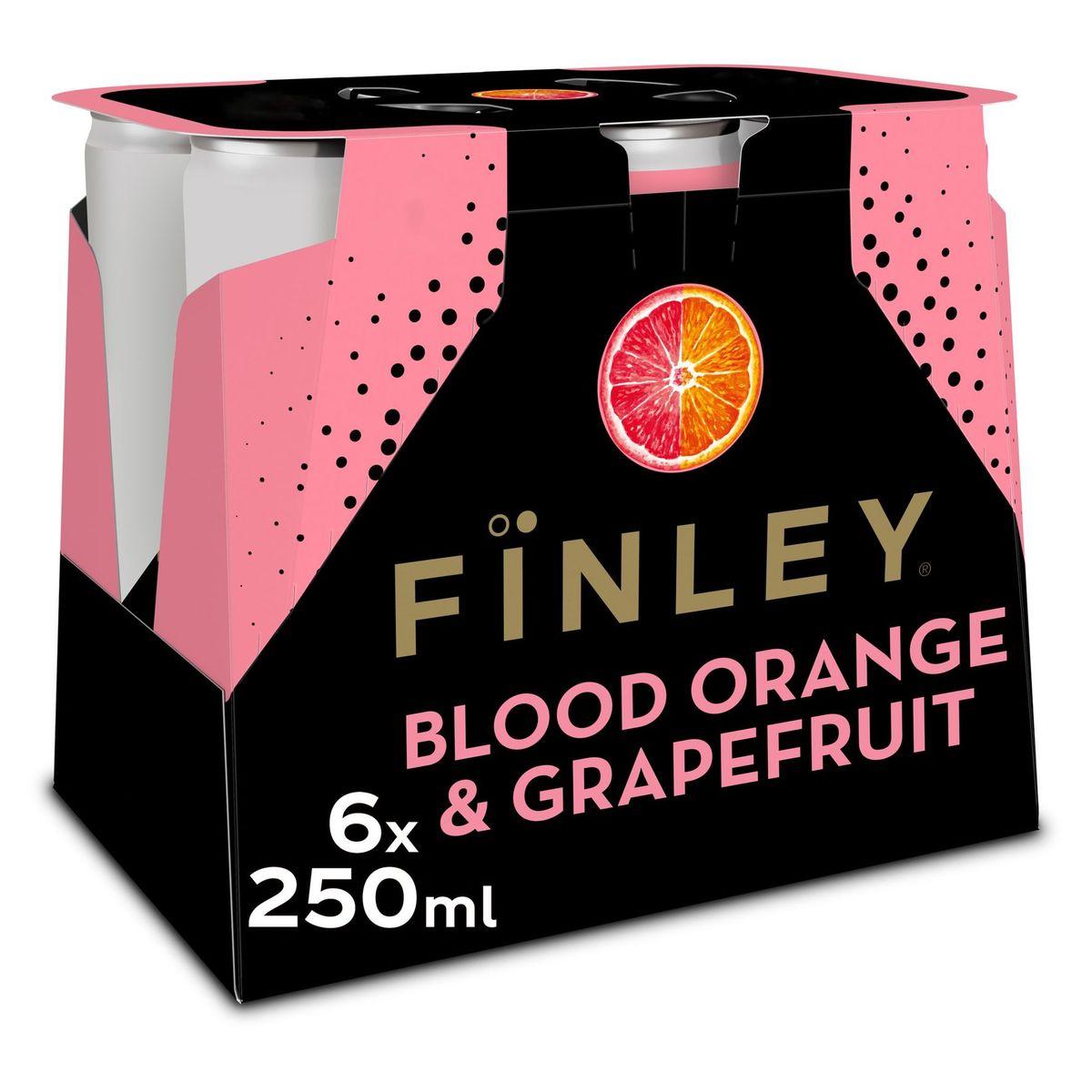 Finley Blood Orange Grapefruit Canette 6 x 250 ml