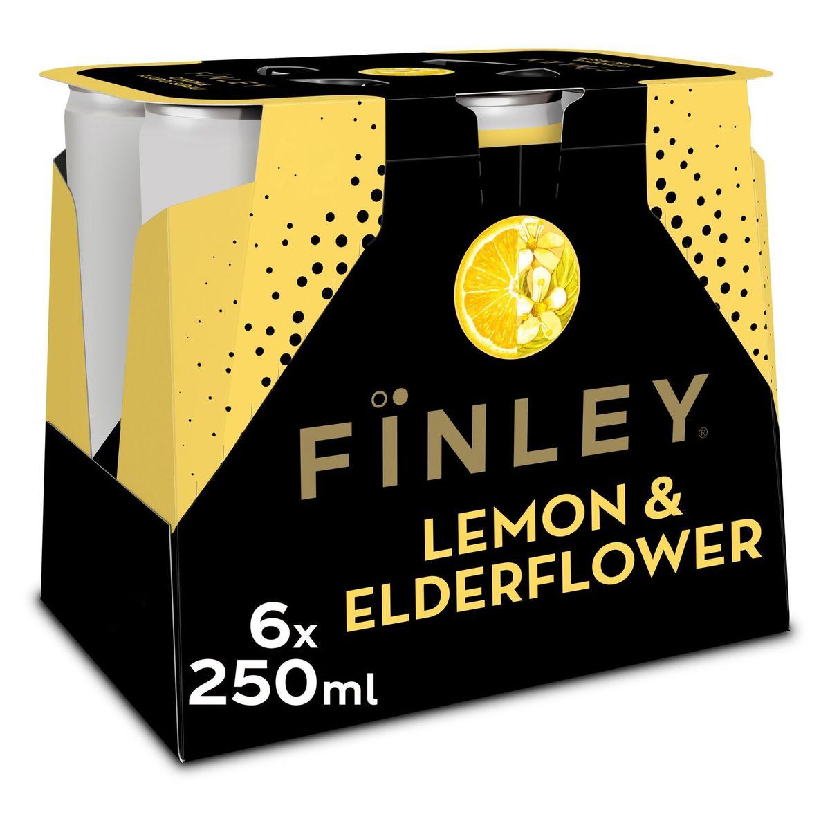 Fïnley Fines Bulles Citron & Fleur de Sureau 6 x 250 ml
