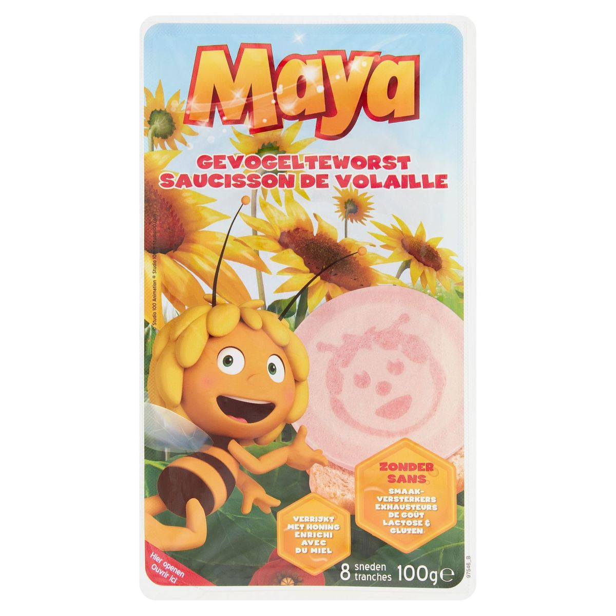Maya Saucisson de Volaille 8 Tranches 100 g